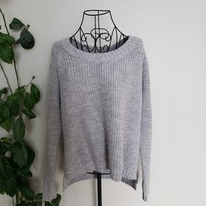 Rag And Bone Knit Wool blend high low grey sweater